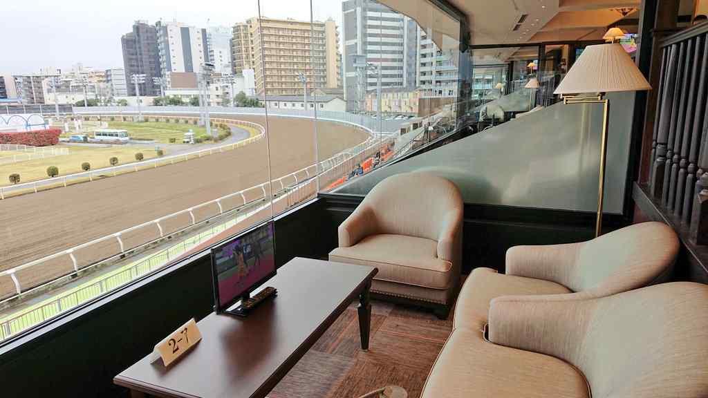 川崎競馬場の馬主席横の貴賓室